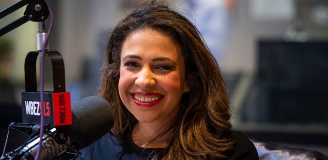 Illinois Republican Erika Harold at WBEZ studios.