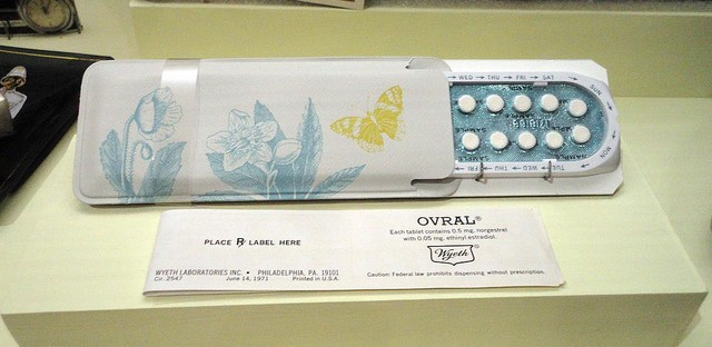 An original package of Ovral birth control pills.