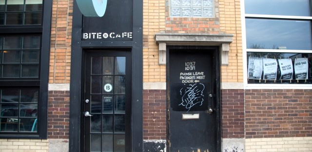 Bite Cafe, a BYOB located next door to the Empty Bottle music venue on Western Avenue. (WBEZ/Logan Jaffe)