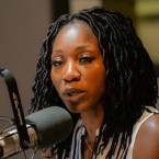 Amara Enyia in the WBEZ studios on Aug. 27, 2018.