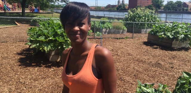 Nateba Yates in the Evergreen Terrace vegetable garden.