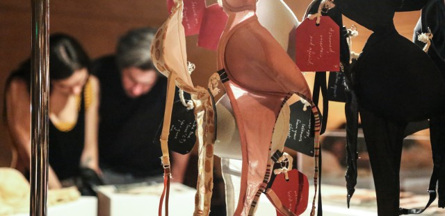 These bras were featured at a recent pop-event for The Museum Of Broken Relationships.