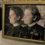 A photograph of Jane Addams and Mary Rozet Smith inside the Hull-House Museum.