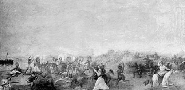 Painting of the battle, 1903