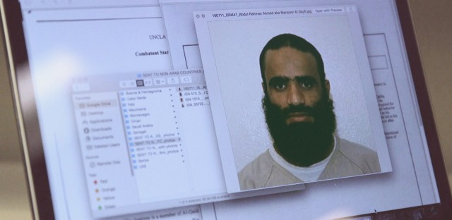 A photo of Dayfi while he was detained at Guantanamo Bay