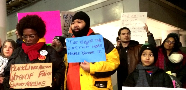 Protesters at O'Hare