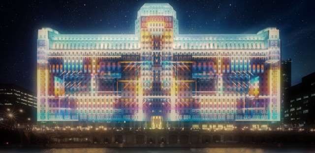 Organizers are calling Art on theMart the largest permanent outdoor video art projection in the world.