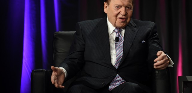 Attorneys have filed three libel lawsuits against journalists on behalf of Sheldon Adelson (shown here in Las Vegas in 2014). He won an apology and legal fees from Britain's Daily Mail in 2008.