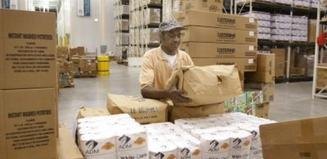 The Greater Chicago Food Depository distributes food to a network of pantries, soup kitchens and shelters throughout Cook County