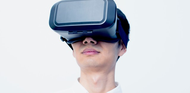 Wearing VR headsets in public is now a (very awkward) thing.