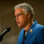 Cook County Board President Toni Preckwinkle at Chicago's City Hall on July 25, 2018.