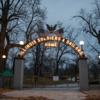 The entrance to the Illinois Veterans Home in downstate Quincy.