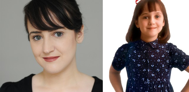 Composite image of Mara Wilson today (left) and in her role as Matilda in 1996.