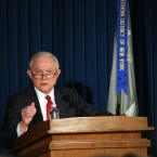 Attorney General Jeff Sessions speaks about domestic security on Nov. 2 in New York.