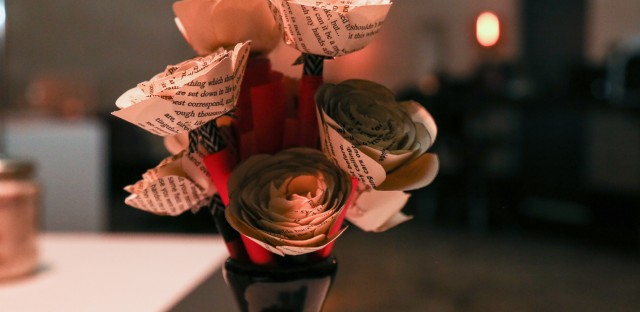 """These """"flowers"""" were on display at a recent pop-event for The Museum Of Broken Relationships."""