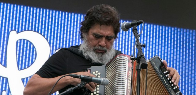 Celso Piña at a concert in Mexico City in 2017.