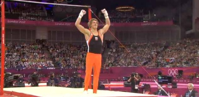 The final gymnastics final brings lots of raised arms