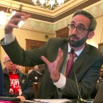 Illinois state Rep. Will Guzzardi, D-Chicago, testifies before the Labor and Commerce Committee Wednesday, Feb. 13, 2019 on his proposal to increase the minimum wage to $15 an hour by 2025.