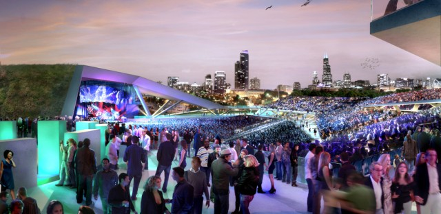 The city's plan for a permanent concert venue.