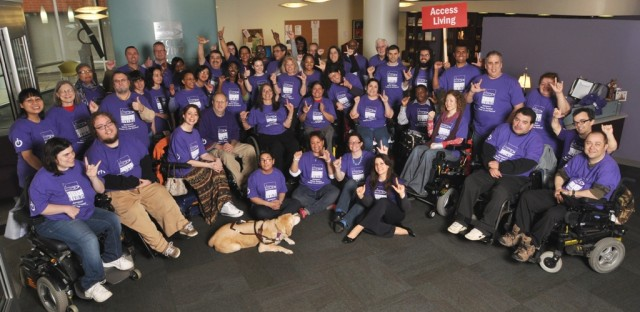 The staff of Access Living, an organization that advocates for people with disabilities.