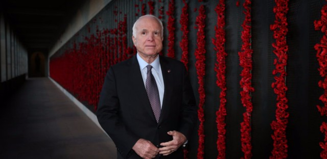 Sen. John McCain's diagnosis of brain cancer could eventually leave the Senate without its irascible military hawk who never holds back. (Kym Smith/Newspix via Getty Images)