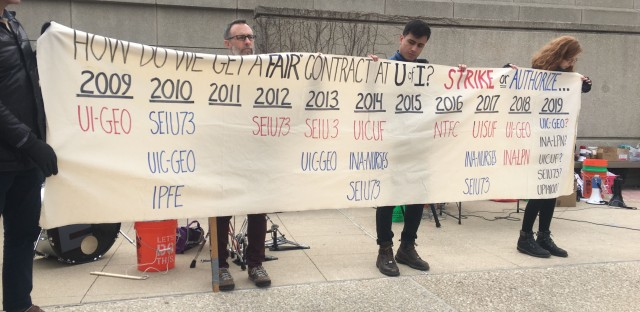 Graduate student workers at the University of Illinois at Chicago have been on strike for three weeks.