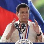 Philippine President Rodrigo Duterte speaks in Manila on Aug. 29. Duterte's war on drugs has drawn widespread criticism from human rights groups. But in Davao City, where he was mayor for more than 20 years, he remains extremely popular among residents who say he  brought order and improved life in what was a largely lawless city.