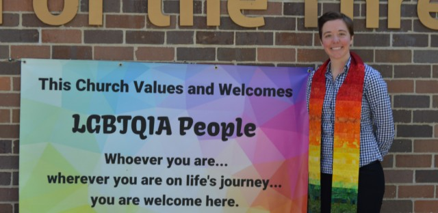 The United Methodist Church's Judicial Council decided to uphold the denomination's bans on same-sex marriage and the ordination of LGBTQ clergy. Pastor Britt Cox (above) of the Church of the Three Crosses said this ruling doesn't represent the church she serves.