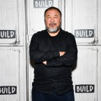 "Chinese visual artist Ai Weiwei attends the BUILD Speaker Series to discuss his film ""Human Flow,"" at AOL Studios on Friday, Oct. 6, 2017, in New York."