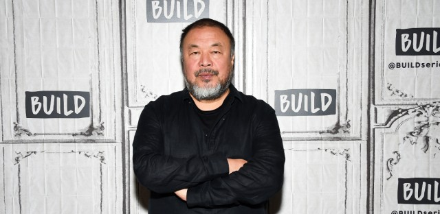 """Chinese visual artist Ai Weiwei attends the BUILD Speaker Series to discuss his film """"Human Flow,"""" at AOL Studios on Friday, Oct. 6, 2017, in New York."""