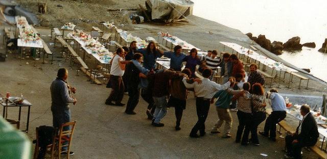 Dinner party celebration on Ikaria