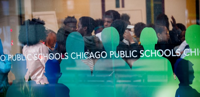 Chicago Public Schools' graduation rate has been rising for years, leaping from 59 percent in 2011 to 78 percent this year. (Bill Healy/WBEZ)