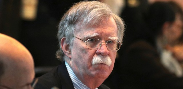 U.S. National security adviser John Bolton, attends a conference of more than 50 nations that largely support Venezuelan opposition leader Juan Guaido in Lima, Peru, Tuesday, Aug. 6, 2019. Bolton says the U.S. will target anybody at home or abroad who supports the government of Venezuelan President Nicolas Maduro with stiff financial sanctions. Bolton spoke a day after the Trump administration announced a new round of sweeping measures aimed at pressuring Maduro from office.