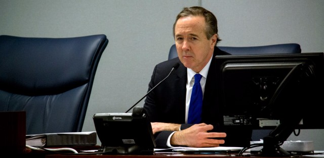 CPS CEO Forrest Claypool at a Jan. 26, 2017, Chicago Board of Education meeting.