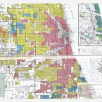 HOLC's color-coded maps show Chicago's black neighborhoods drenched in red.