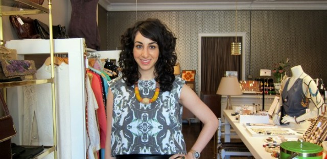 Julie Ghatan at Dovetail, her West Town boutique.