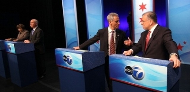 The mayoral candidates met for a final televised debate Thursday, Feb. 17, 2011.