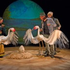 "A shot from ""Ajijaak on Turtle Island,"" which opens the Chicago International Puppet Theater Festival."