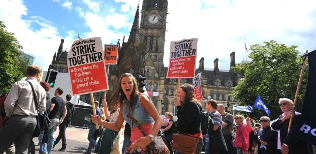 Thousands Strike In Britain As EU Debt Crisis Festers