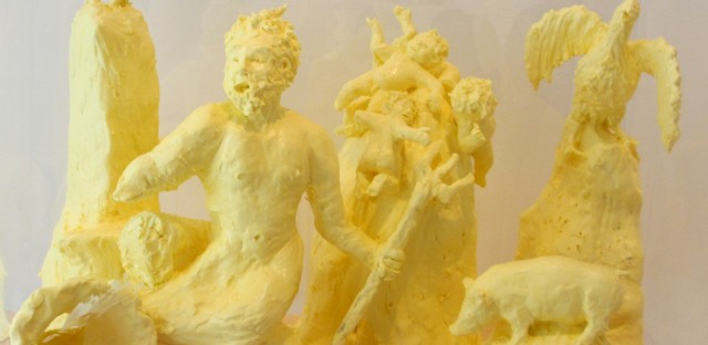 "Margarine sculptures from the ""Feast: Radical Hospitality in Contemporary Art"" exhibition. Photo by Catherine Lambrecht."