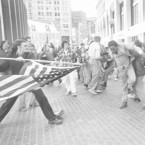 """The Soiling of Old Glory"" was taken on April 5, 1976, during the Boston busing desegregation protests."
