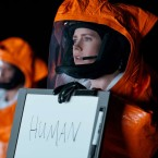 """Amy Adams stars as linguistics professor Louise Banks in the new movie Arrival, adapted from a Ted Chiang short story. The science fiction author spent five years studying linguistics before writing """"Story of Your Life."""""""