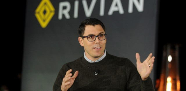 Rivian Founder and CEO RJ Scaringe unveils the first-ever electric adventure vehicle before its official reveal at the LA Auto Show at the Griffith Observatory on Monday, Nov. 26, 2018 in Los Angeles.