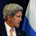 John Kerry and Russian Foreign Minister Sergei Lavrov
