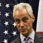 Chicago Mayor Rahm Emanuel speaks during a press conference where sanctuary cities, which don't arrest or detain immigrants living in the U.S. illegally, and Chicago violence, two issues raised by President Donald Trump, were discussed on Wednesday, Jan. 25, 2017, in Chicago.