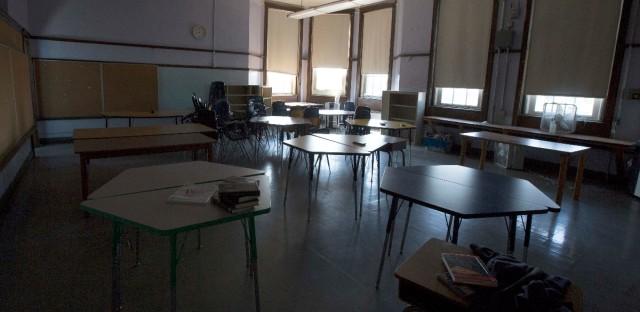 Elementary School Empty In Chicago