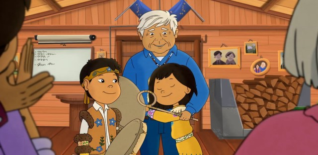 A scene from 'Molly of Denali,' the first nationally distributed children's series with a Native American main character.