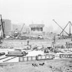 Buckingham Fountain in construction before its opening in 1927.