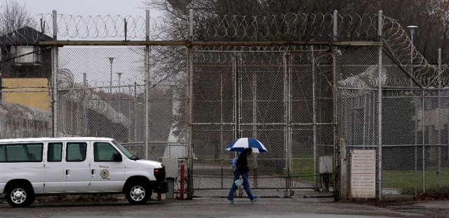 Security fences surround the Logan Correctional Center Friday, Nov. 18, 2016, in Lincoln, Ill.