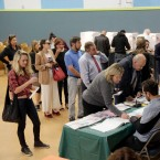 People voting at a polling place set up at the Kenter Canyon Elementary School in Los Angeles during the Nov. 8, 2016 general election.